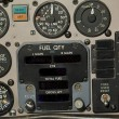 Aircraft gauges - Stock Photo