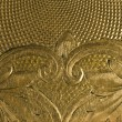 Highly detailed background carved in gold — Stock Photo