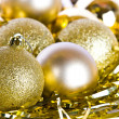Golden Christmas decorations — Stock Photo #14765905