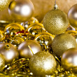 Golden Christmas decorations — Stock Photo #14765915