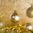 Golden Christmas decorations — Stock Photo #14765923