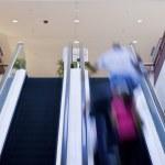 Double Escalator going up — Stock Photo