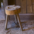 Old handmade stool — Stock fotografie