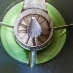 Close-up of jet engine turbine blades — Stock Photo #14769745