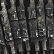 Old typewriter type — Stock fotografie