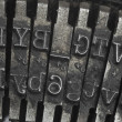 Old typewriter type — Foto de Stock