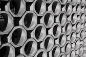 Wall pattern in black and white — Stock Photo