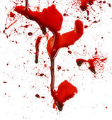 Dripping blood splatters — Stock Photo