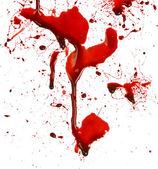 Dripping blood splatters — Stock Photo