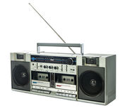 Retro ghetto blaster isolated on white — Stock Photo