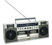 复古录音机上白色隔离 — 图库照片