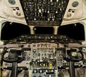 Jet aircraft cockpit — Stock Photo