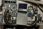 Jet aircraft control column — Stock Photo