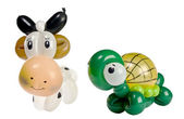 Balloon animal cow and turtle — Stock Photo