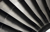 Close-up of a turbofan jet engine — Stock Photo