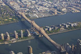 New York from the air — Stock Photo