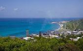 Caribbean island landscape and seascape — Stock Photo