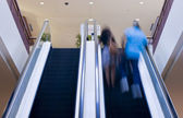 Double Escalator going up — Stock Photo
