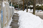 Snow covered streets — Stock Photo