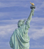 View of the Statue of Liberty in New York City isolated — Stock Photo