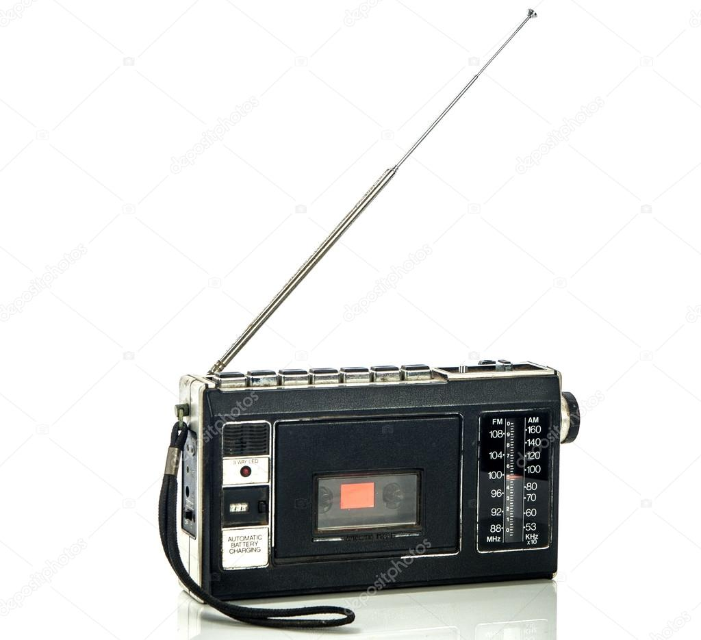 Stereo radio with cassette  — Stock Photo #14767301