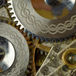 Macro of gears and works of antique pocket watch — Foto de Stock