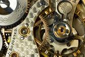 Makro narzędzia i dzieła zegarek kieszonkowy antyczne — Zdjęcie stockowe