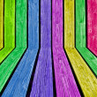 Colorful wood planks — Foto de Stock