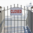 Closed sign on ship yard gate — Foto Stock