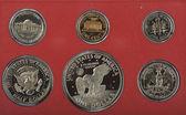 分離されたアメリカ合衆国プルーフ コイン — ストック写真