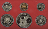 United states proof coins isolated — Stock fotografie