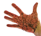 Blood hand — Stock Photo