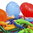 Old wrinkled balloons after the party — Stock Photo