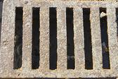 сток колосниковая решетка — Стоковое фото