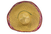 A mexican sombrero isolated on a white background — Foto Stock