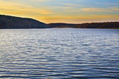 Lake on sunset — Stock Photo