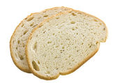 Rye bread slices on the white isolate background — Stock Photo