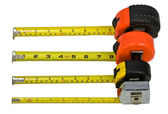 Tape measure bar graph — Stock Photo