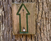 Green directional sign up — Stock Photo