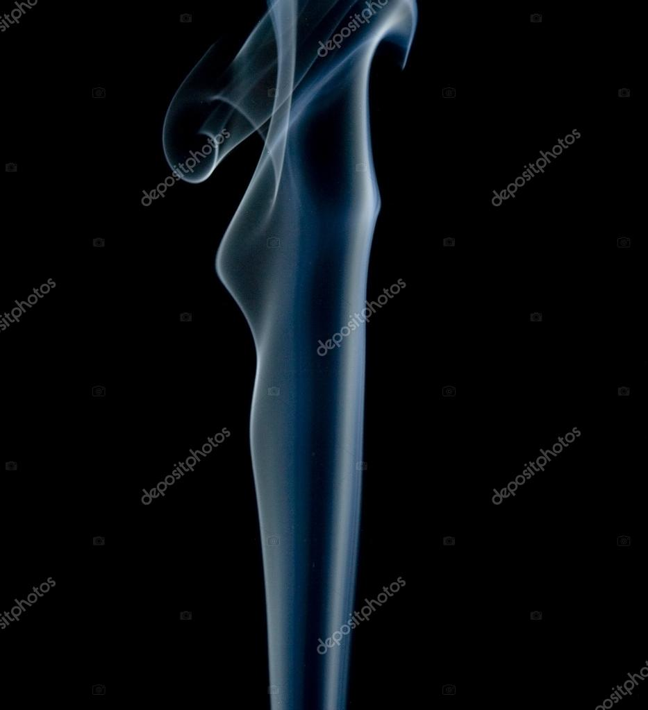 Abstract smoke isolated on black — Stock Photo #15536383