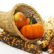 Corn basket - Stock Photo