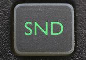 Remote control sound button — Stock Photo