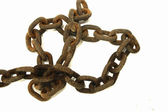 Old rusty chain isolated on a white background — Stock Photo
