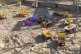 Toys in the sandbox — Stock Photo