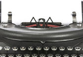 Old fashioned, vintage typewriter isolated — Стоковое фото