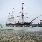 Hms warrior portsmouth naval dockyards — Stock Photo #12103861