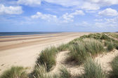 Sand dunes holkham beach north norfolk — Stock Photo