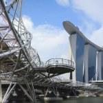 Singapore Marina Bay Sands Panorama — Stock Photo