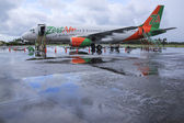 Zest air airliner kalibo airport philippines — Stock Photo