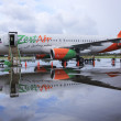 Zest air airliner kalibo airport philippines - Stock Photo